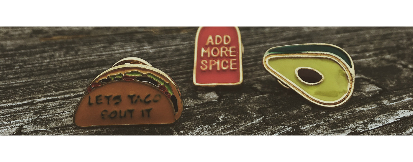 Collection of fantastic pins divided into categories, unique pieces, limited availability